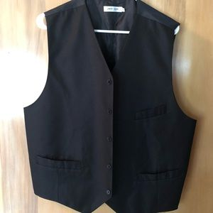 Pierre Cardin Black Dress Vest w/ 3 pockets Sz XL